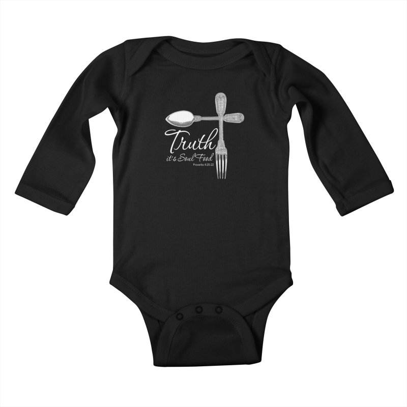 Truth it's soul food light Kids Baby Longsleeve Bodysuit by Andy's Paw Prints Shop