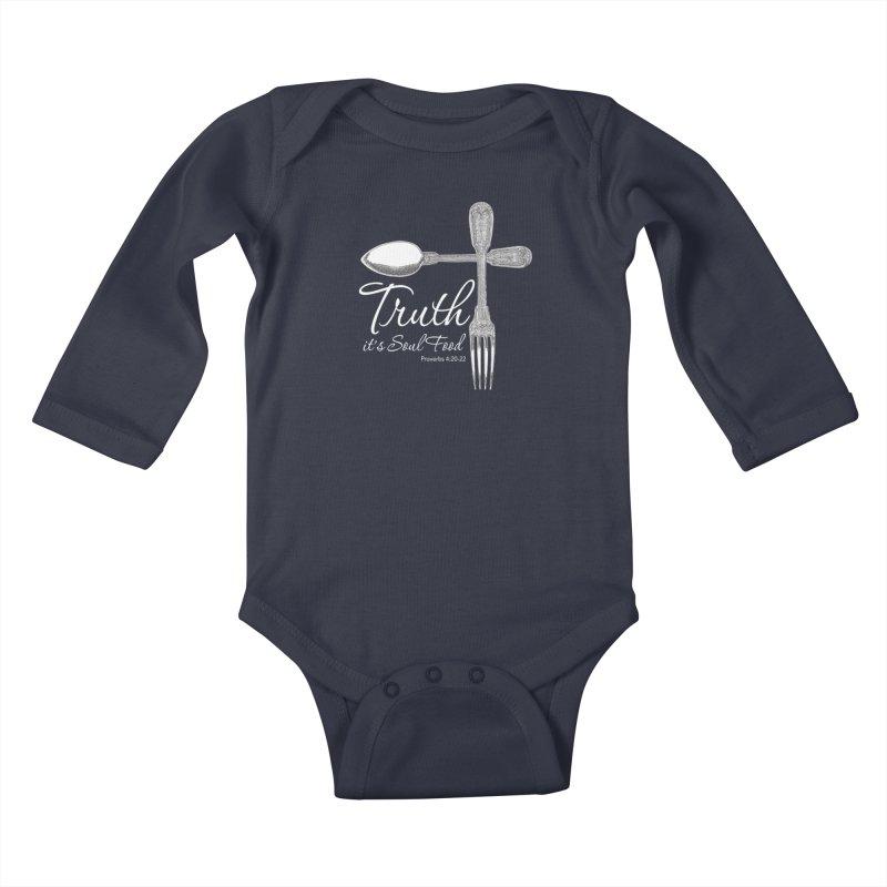 Truth it's soul food light Kids Baby Longsleeve Bodysuit by Andy's Paw Prints Shop