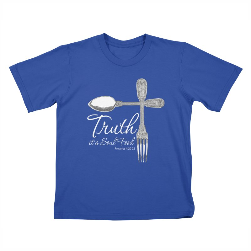 Truth it's soul food light Kids T-Shirt by Andy's Paw Prints Shop