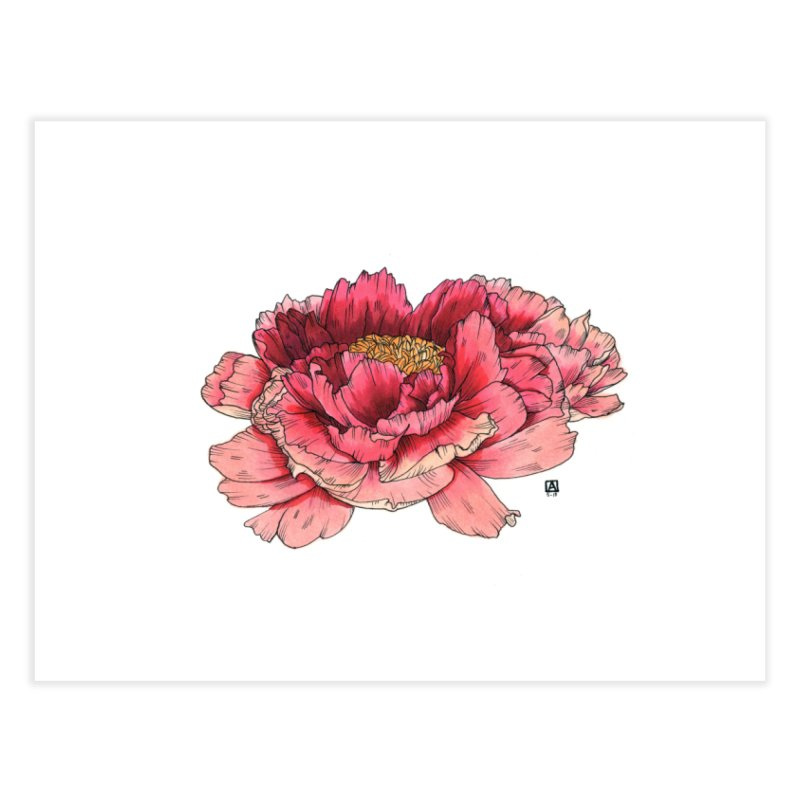 Peony Home Fine Art Print by Angerine's Artist Shop