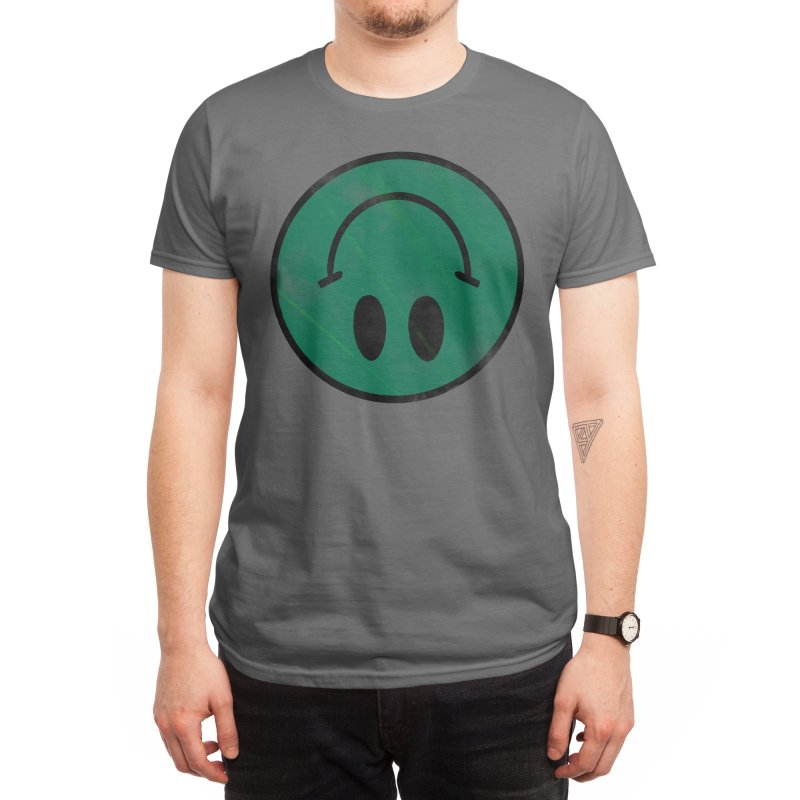 Fake Happy Men's T-Shirt by Angry Ash's Clothing Stash