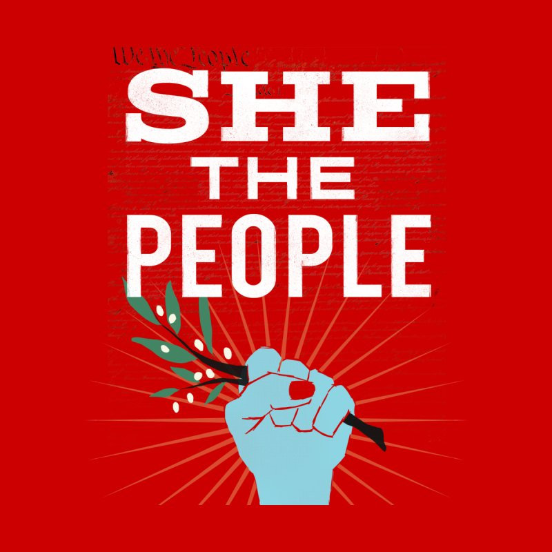 She the People Power! Women's Pullover Hoody by Anikadrawls