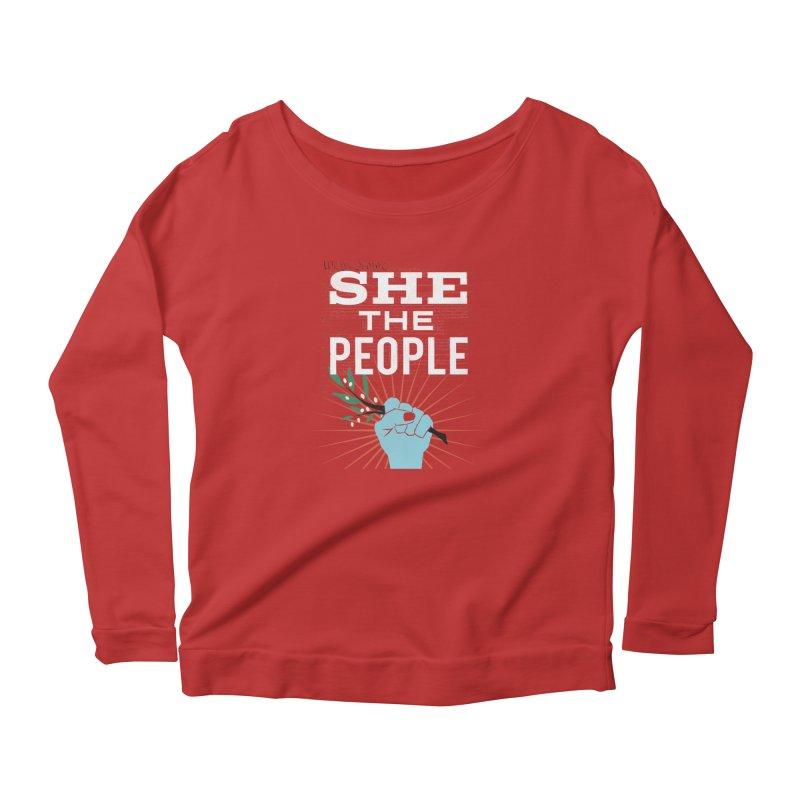 She the People Power! Women's Scoop Neck Longsleeve T-Shirt by Anikadrawls