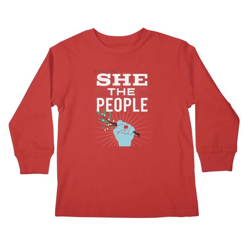 She the People Power! Kids Longsleeve T-Shirt by Anikadrawls