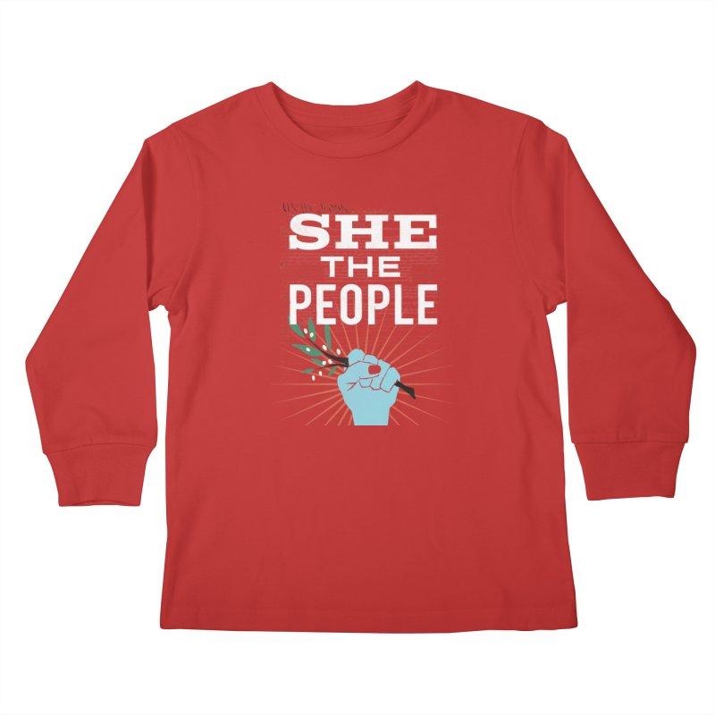She the People Power! Kids Longsleeve T-Shirt by Anikadrawls