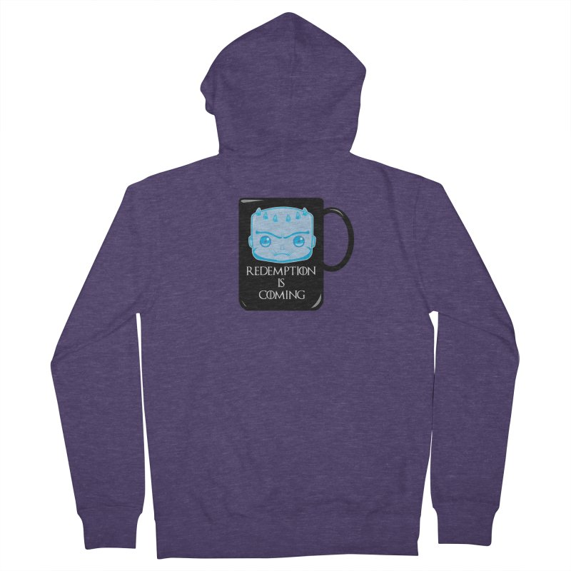 Redemption Is Coming Men's French Terry Zip-Up Hoody by AnimatedTdot's Artist Shop