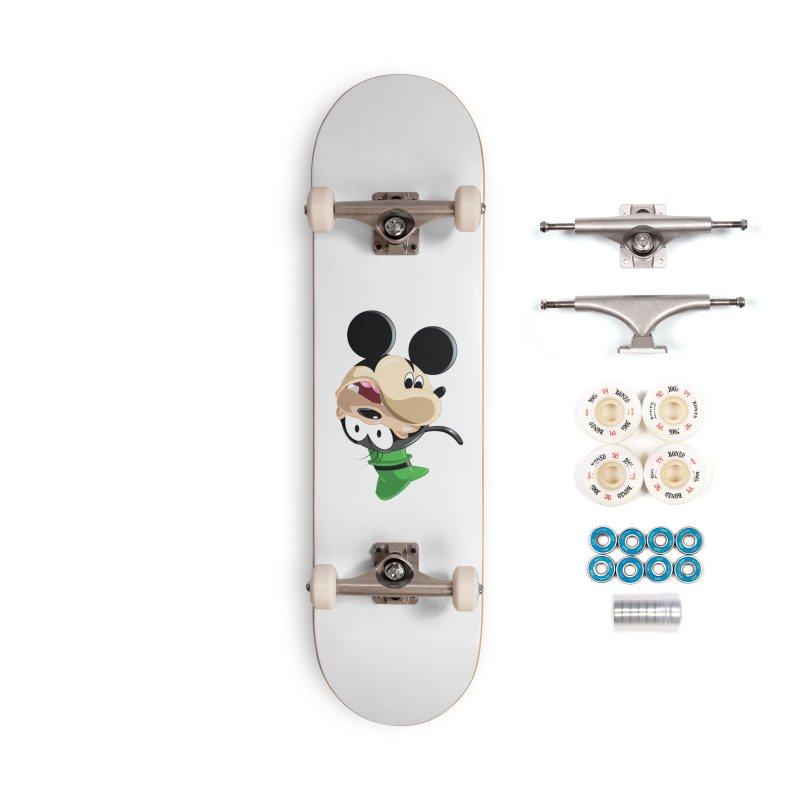 Mickey Goofy Yin Yang Accessories Complete - Premium Skateboard by AnimatedTdot's Artist Shop