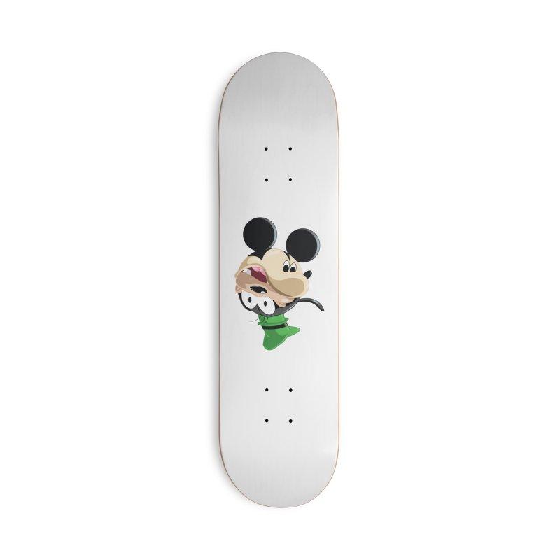 Mickey Goofy Yin Yang Accessories Deck Only Skateboard by AnimatedTdot's Artist Shop