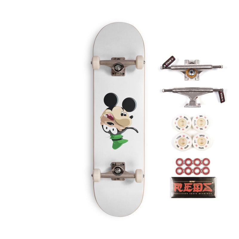 Mickey Goofy Yin Yang Accessories Complete - Pro Skateboard by AnimatedTdot's Artist Shop