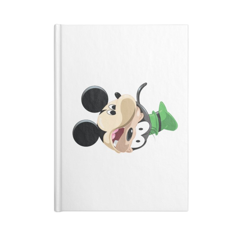 Mickey Goofy Yin Yang Accessories Lined Journal Notebook by AnimatedTdot's Artist Shop