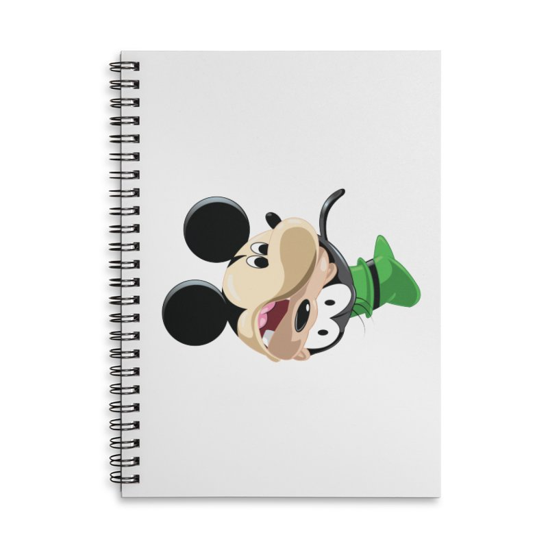 Mickey Goofy Yin Yang Accessories Lined Spiral Notebook by AnimatedTdot's Artist Shop