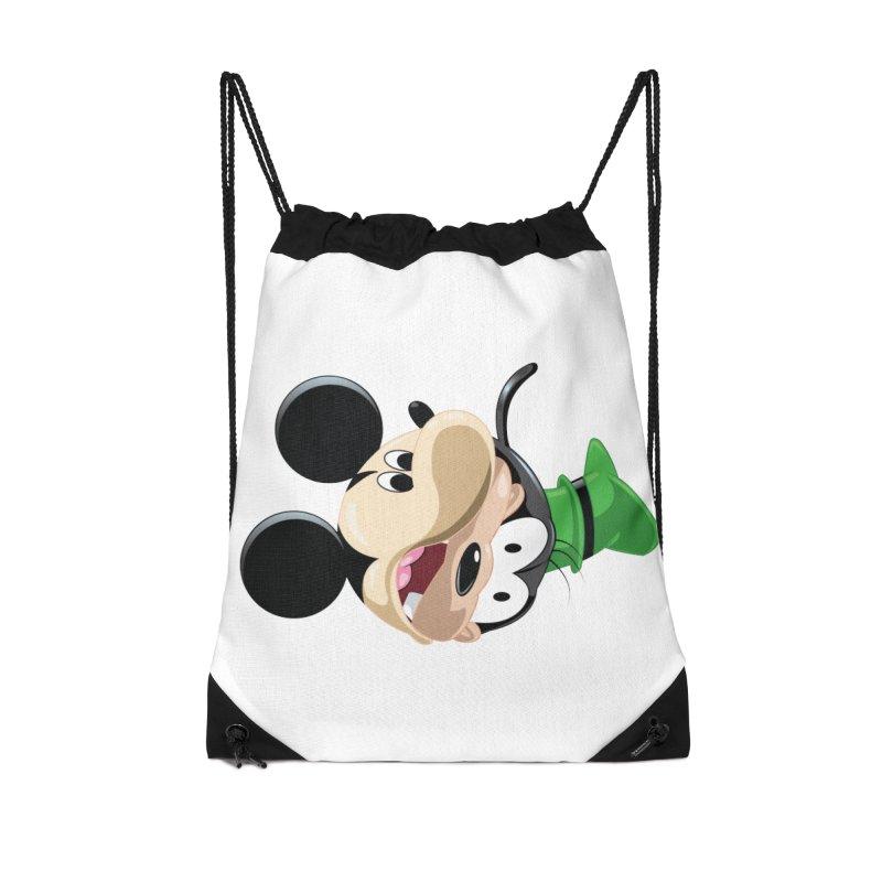 Mickey Goofy Yin Yang Accessories Drawstring Bag Bag by AnimatedTdot's Artist Shop