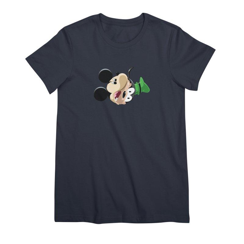 Mickey Goofy Yin Yang Women's Premium T-Shirt by AnimatedTdot's Artist Shop