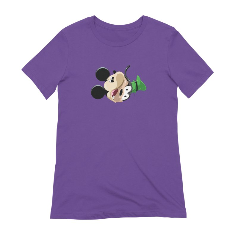 Mickey Goofy Yin Yang Women's Extra Soft T-Shirt by AnimatedTdot's Artist Shop