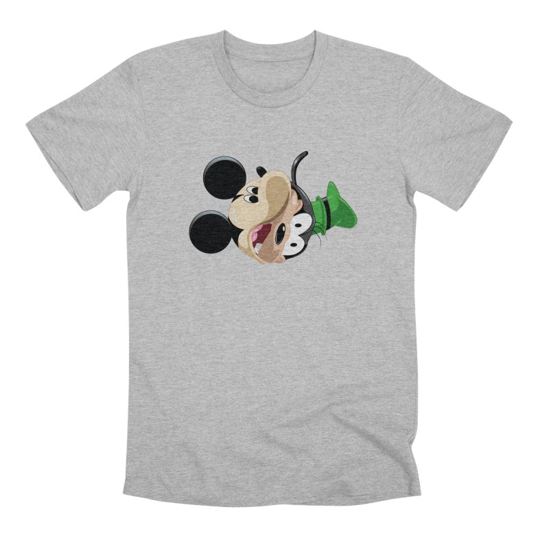 Mickey Goofy Yin Yang Men's Premium T-Shirt by AnimatedTdot's Artist Shop
