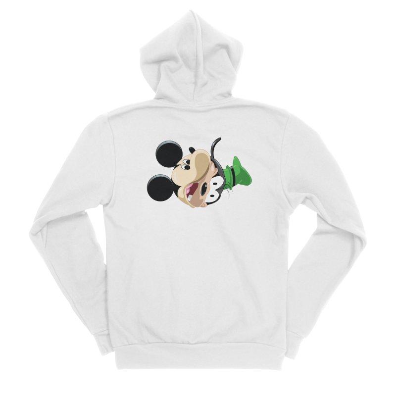 Mickey Goofy Yin Yang Women's Sponge Fleece Zip-Up Hoody by AnimatedTdot's Artist Shop