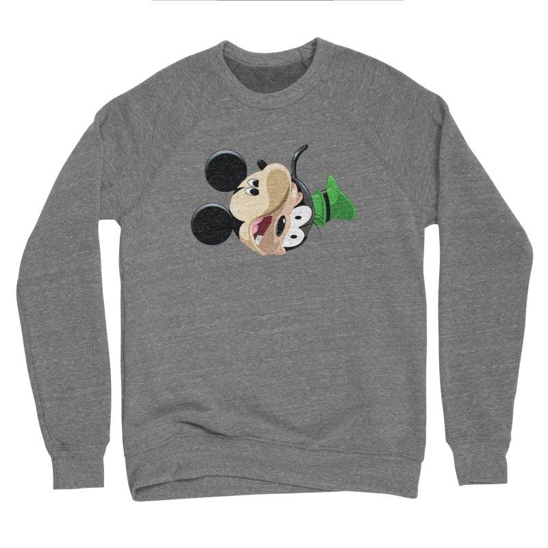 Mickey Goofy Yin Yang Men's Sponge Fleece Sweatshirt by AnimatedTdot's Artist Shop