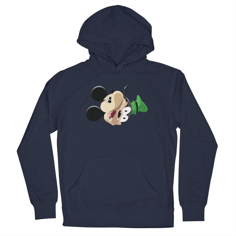 Mickey Goofy Yin Yang Women's French Terry Pullover Hoody by AnimatedTdot's Artist Shop