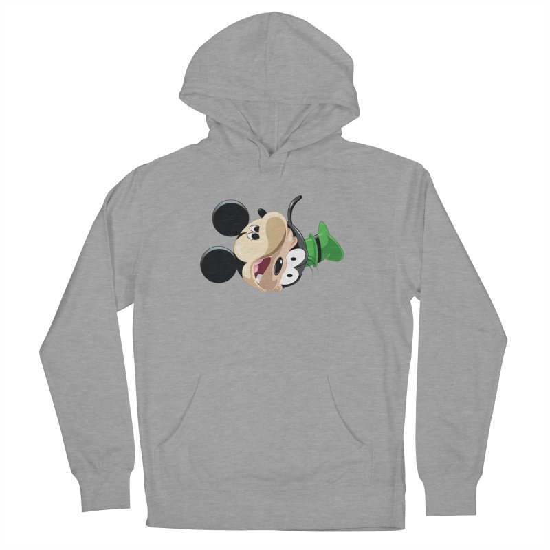Mickey Goofy Yin Yang Men's French Terry Pullover Hoody by AnimatedTdot's Artist Shop