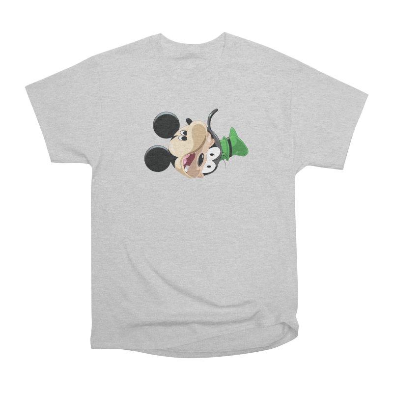 Mickey Goofy Yin Yang Women's Heavyweight Unisex T-Shirt by AnimatedTdot's Artist Shop