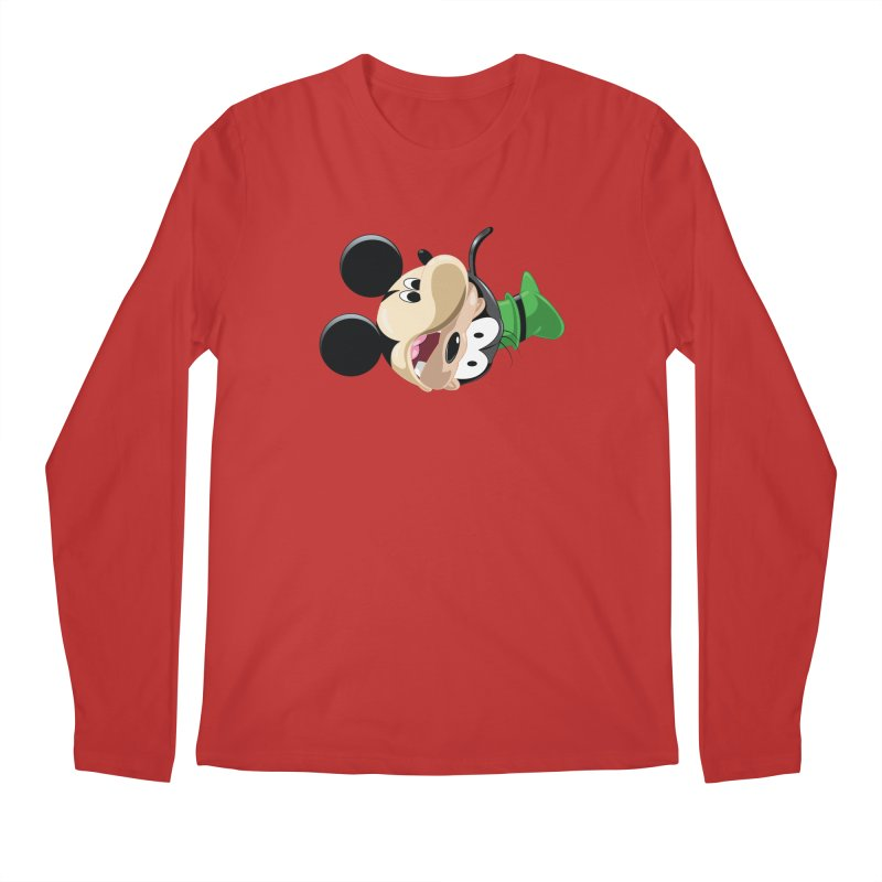 Mickey Goofy Yin Yang Men's Regular Longsleeve T-Shirt by AnimatedTdot's Artist Shop