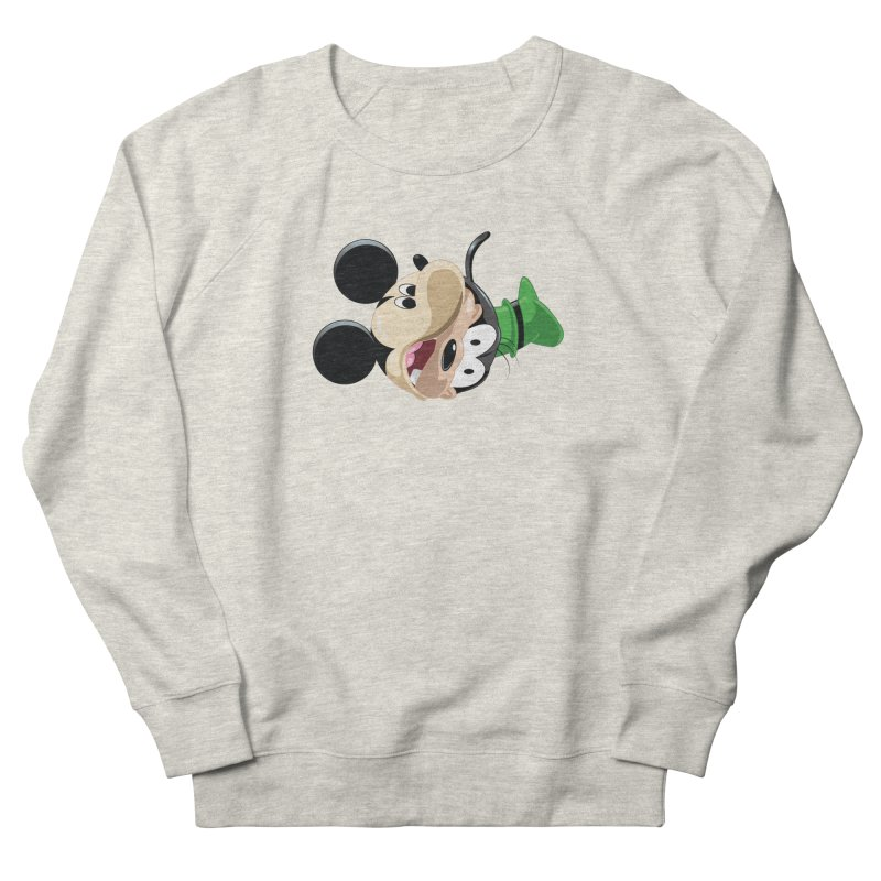 Mickey Goofy Yin Yang Women's French Terry Sweatshirt by AnimatedTdot's Artist Shop