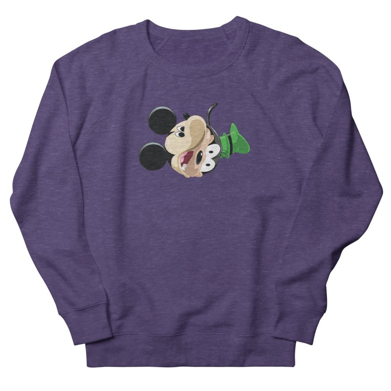Mickey Goofy Yin Yang Men's French Terry Sweatshirt by AnimatedTdot's Artist Shop