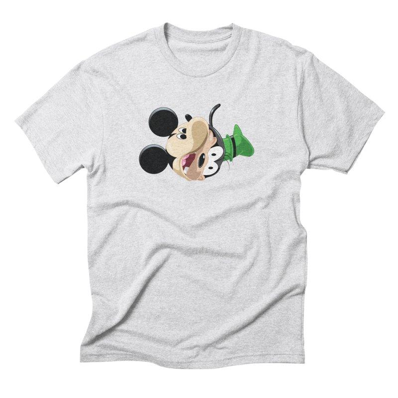 Mickey Goofy Yin Yang Men's Triblend T-Shirt by AnimatedTdot's Artist Shop
