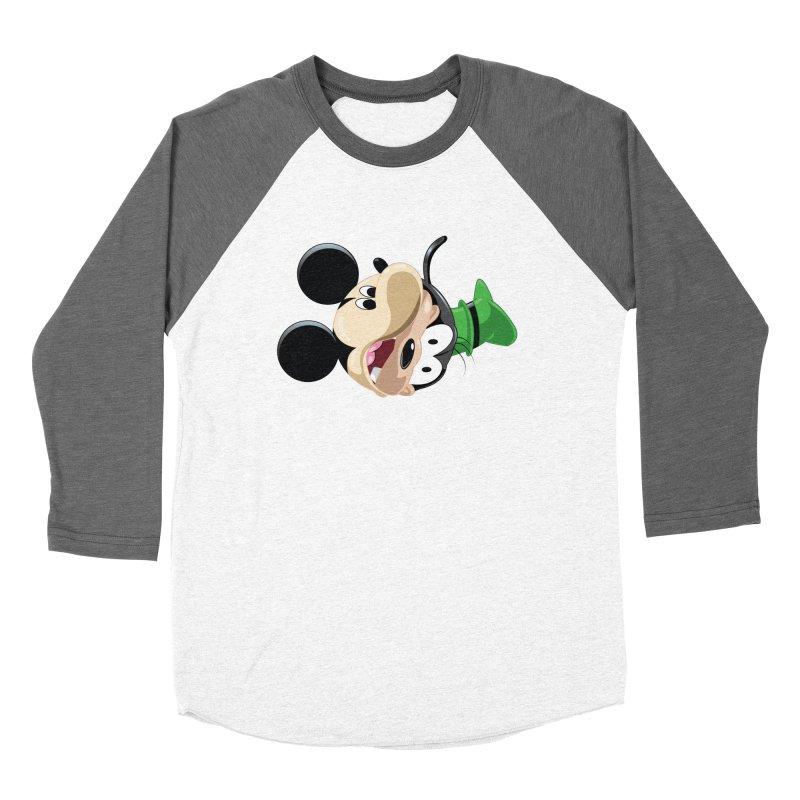 Mickey Goofy Yin Yang Women's Baseball Triblend Longsleeve T-Shirt by AnimatedTdot's Artist Shop