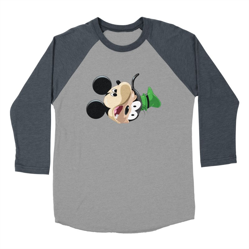 Mickey Goofy Yin Yang Men's Baseball Triblend Longsleeve T-Shirt by AnimatedTdot's Artist Shop