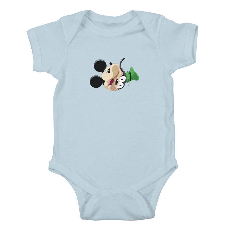 Mickey Goofy Yin Yang Kids Baby Bodysuit by AnimatedTdot's Artist Shop