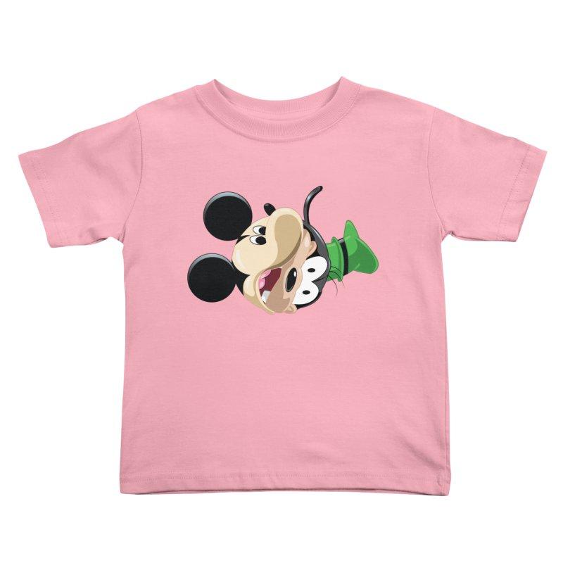 Mickey Goofy Yin Yang Kids Toddler T-Shirt by AnimatedTdot's Artist Shop