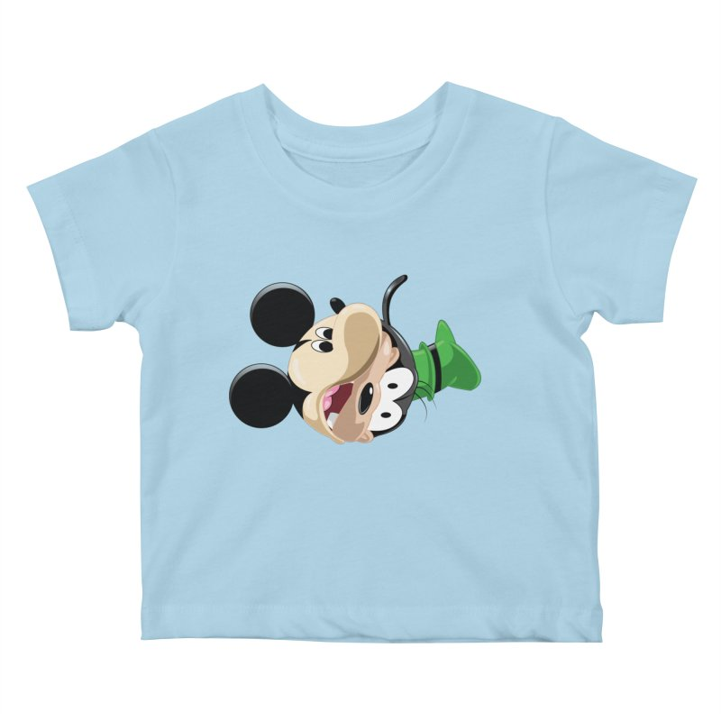 Mickey Goofy Yin Yang Kids Baby T-Shirt by AnimatedTdot's Artist Shop
