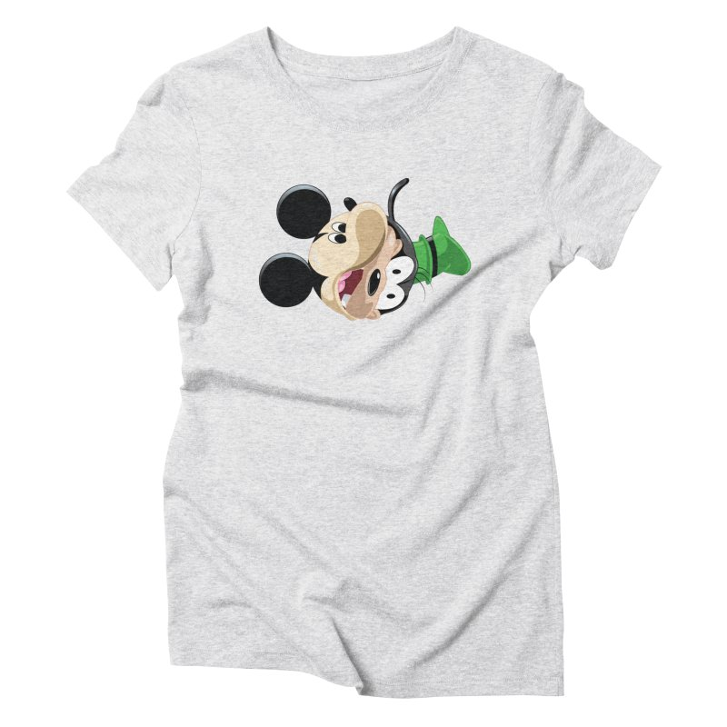 Mickey Goofy Yin Yang Women's T-Shirt by AnimatedTdot's Artist Shop