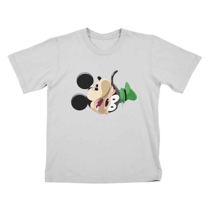 Mickey Goofy Yin Yang Kids T-Shirt by AnimatedTdot's Artist Shop