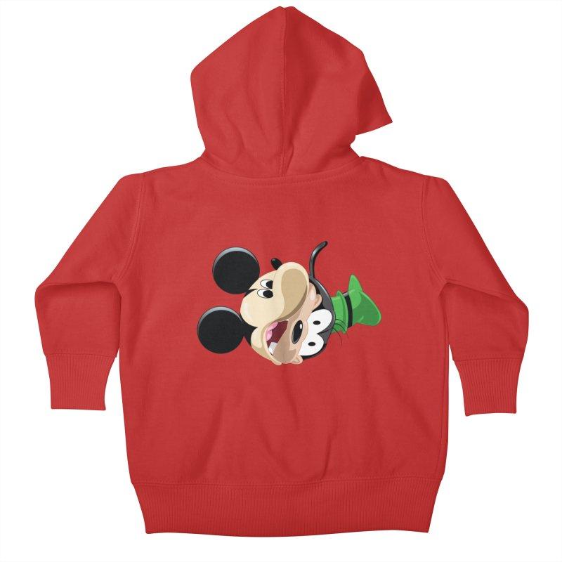 Mickey Goofy Yin Yang Kids Baby Zip-Up Hoody by AnimatedTdot's Artist Shop