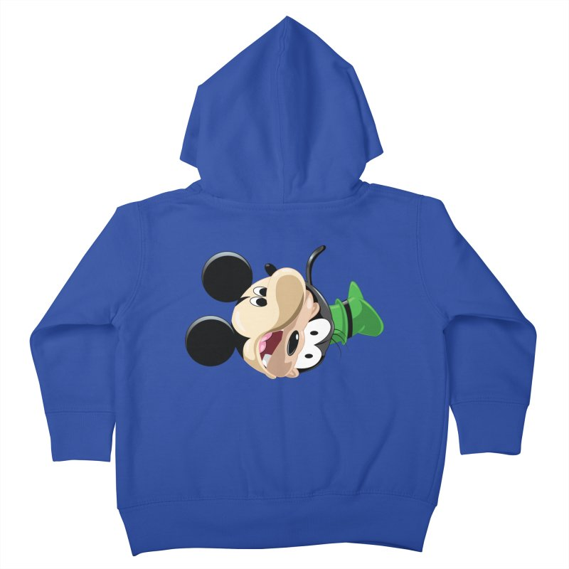 Mickey Goofy Yin Yang Kids Toddler Zip-Up Hoody by AnimatedTdot's Artist Shop