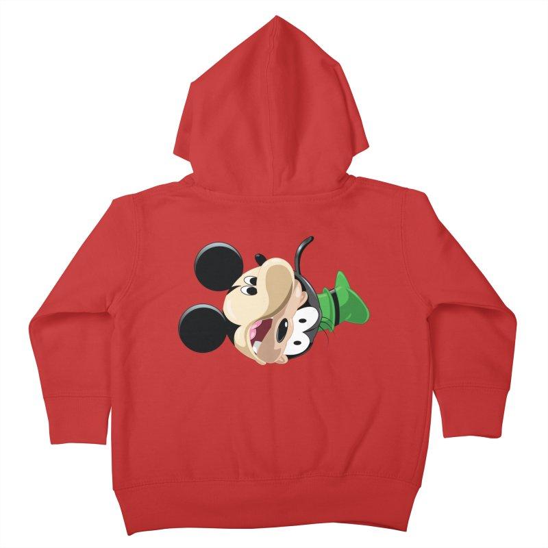 Mickey Goofy Yin Yang Kids Toddler Zip-Up Hoody by AnimatedTdot's Artist Shop