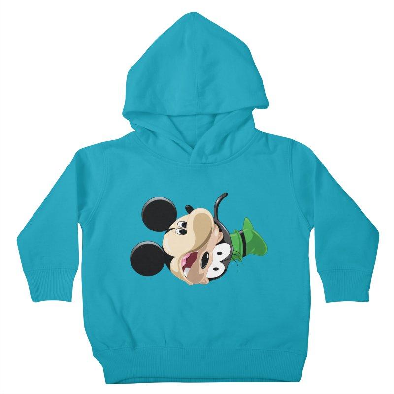 Mickey Goofy Yin Yang Kids Toddler Pullover Hoody by AnimatedTdot's Artist Shop