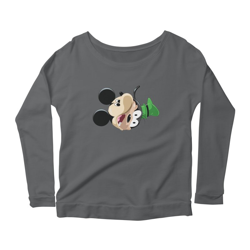 Mickey Goofy Yin Yang Women's Scoop Neck Longsleeve T-Shirt by AnimatedTdot's Artist Shop