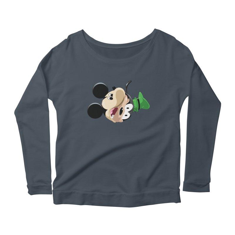 Mickey Goofy Yin Yang Women's Scoop Neck Longsleeve T-Shirt by AnimatedTdot's Artist Shop