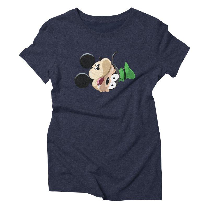 Mickey Goofy Yin Yang Women's Triblend T-Shirt by AnimatedTdot's Artist Shop