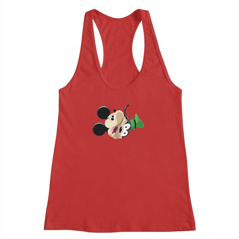 Mickey Goofy Yin Yang Women's Racerback Tank by AnimatedTdot's Artist Shop