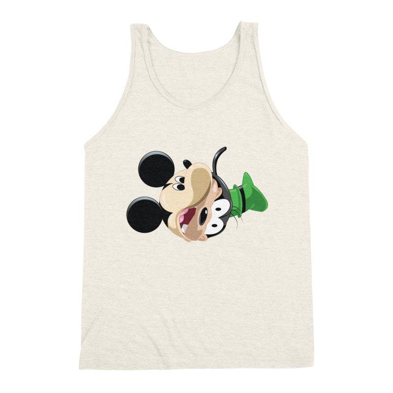 Mickey Goofy Yin Yang Men's Triblend Tank by AnimatedTdot's Artist Shop