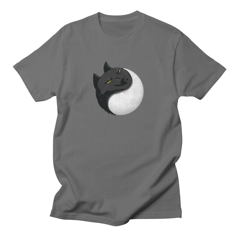 Full Moon Yin Yang Men's T-Shirt by AnimatedTdot's Artist Shop