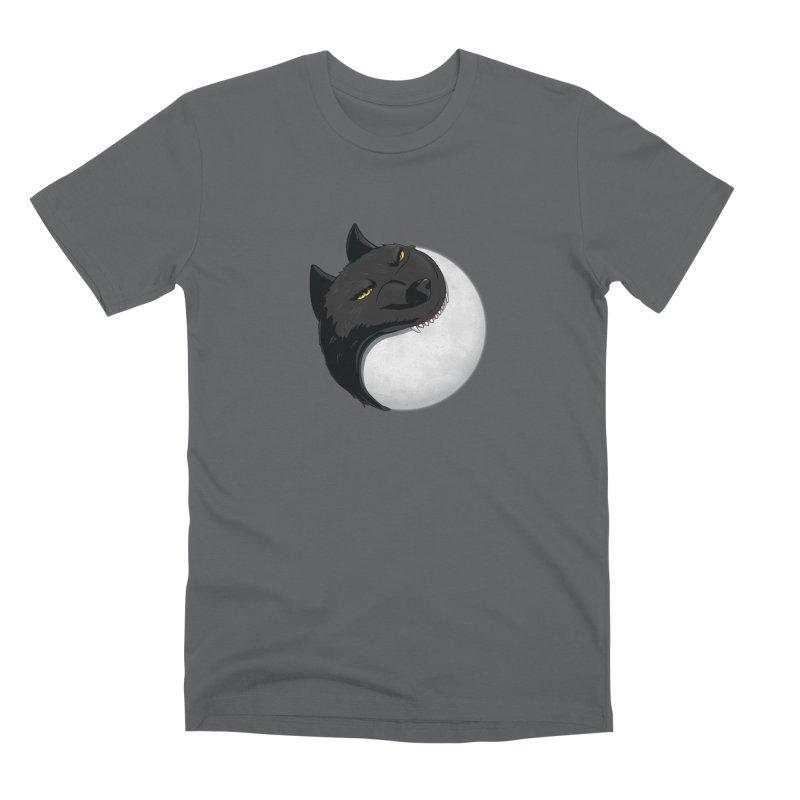 Full Moon Yin Yang Men's Premium T-Shirt by AnimatedTdot's Artist Shop
