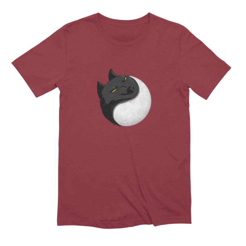 Full Moon Yin Yang Men's Extra Soft T-Shirt by AnimatedTdot's Artist Shop