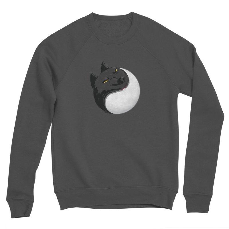 Full Moon Yin Yang Men's Sponge Fleece Sweatshirt by AnimatedTdot's Artist Shop