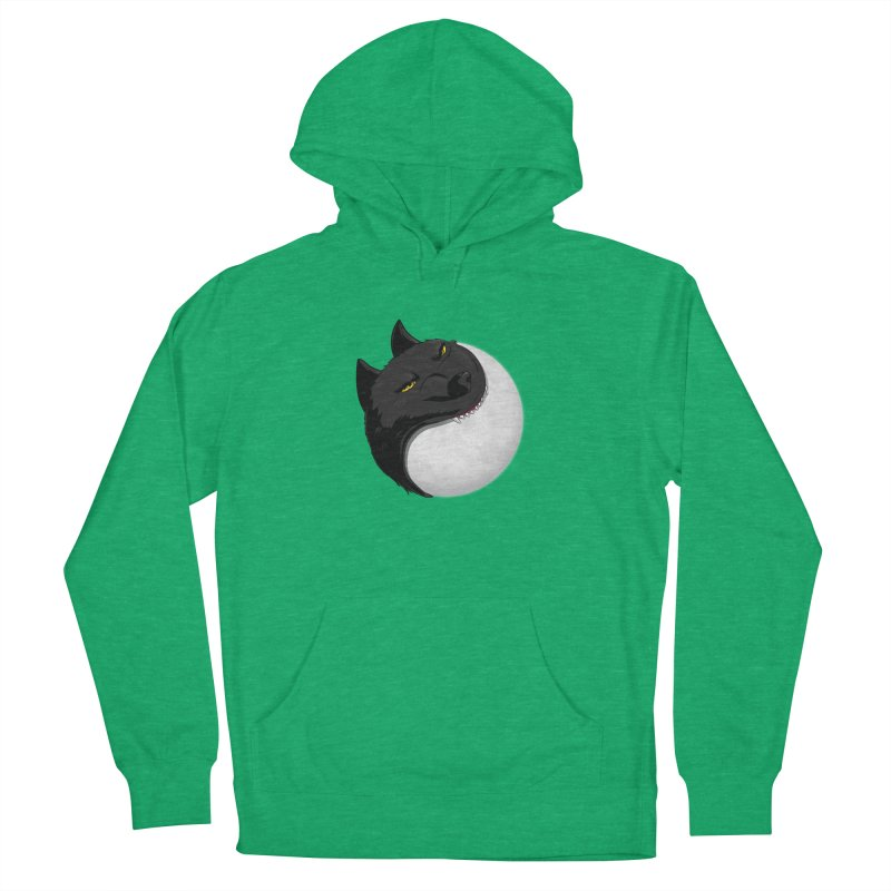 Full Moon Yin Yang Men's French Terry Pullover Hoody by AnimatedTdot's Artist Shop