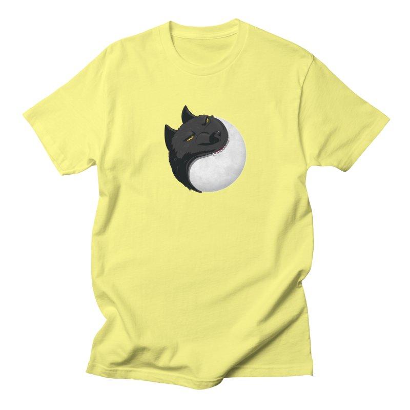 Full Moon Yin Yang Men's Regular T-Shirt by AnimatedTdot's Artist Shop